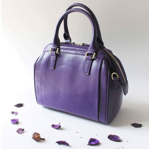 KATE Italy Leather Bag / Camera Bag (Purple) Tote Bag Doctor Bag Original Design Shoulder Bag Crossbody Miniature Joker Bag
