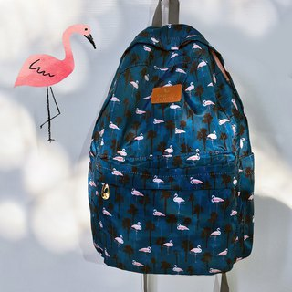 Design new pink flamingo Icon folding backpack goddess Van bag