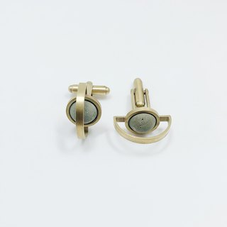 Brass Cement Cufflinks Agaric Garden x C3CraftStudio Moon Tour