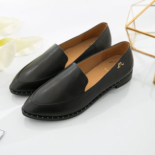 Erato- gentleman black - handmade leather Wenqing Lok Fu shoes