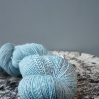 Hand-dyed lace line. Sky (BFL)