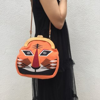 Tiger wooden accessories cross body bag