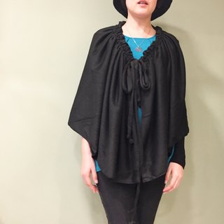 [Scarf] wear a drawstring scarf - black