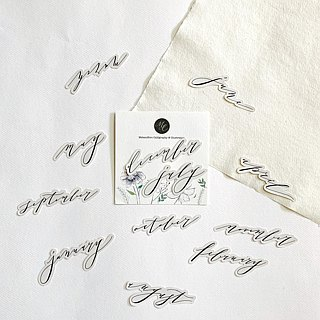 Mstandforc Calligraphy Month Stickers (12 pcs)