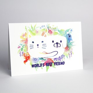 World's Best Friend Universal Card / Greeting Card / Birthday Card / Thank You Card