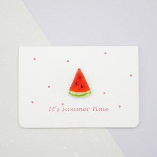 Highlight Also / Watermelon Glass Small Objects Card (Red)