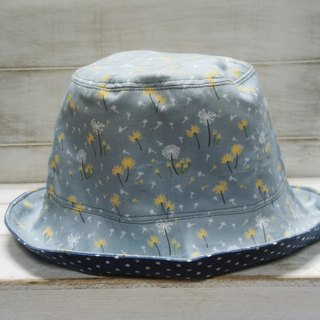 Dandelion Flying & Pointing Cowboy Blue Double Sided Fisherman Hat Visor