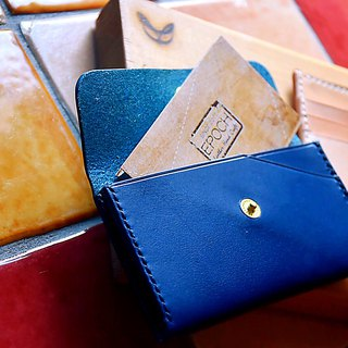 BUTTERO Italy imported leather - double sandwich business card holder