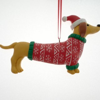 Christmas dachshund dog strap