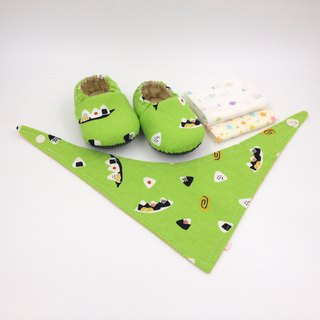 Seaweed rice ball - Miyue baby gift box (toddler shoes / baby shoes / baby shoes + 2 handkerchief + scarf)