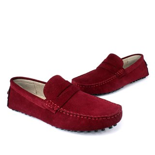 Sixlips yi classic suede peas shoes red wine