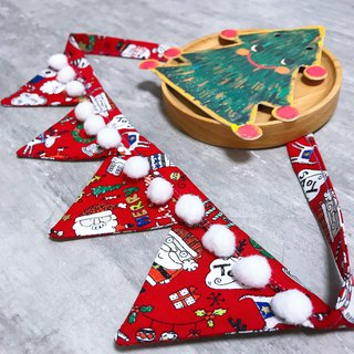 Christmas style Santa Claus with Christmas collar triangle