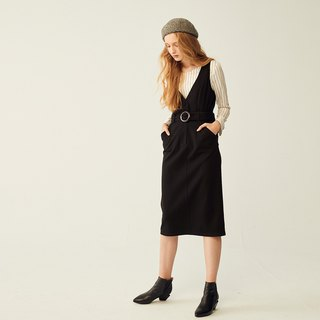AEVEA belted vest dress