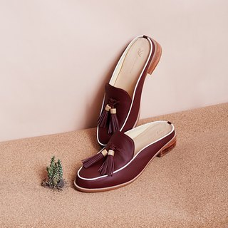 Red Burgundy-Willow - Mule Loafers