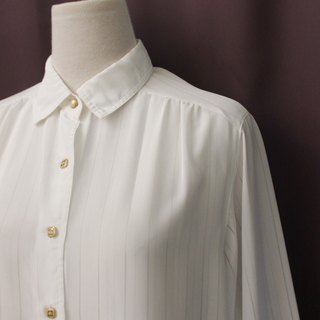 Vintage Japanese Elegant Simple Fresh Striped Loose White Long Sleeve Vintage Shirt Vintage Blouse