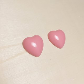 Vintage Deep Pink Love Earrings Ear Clips