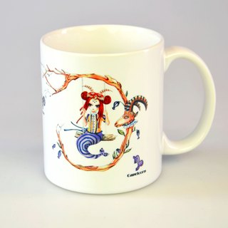 Tiger Sheep - Capricorn / 12 Constellation Illustration Mug