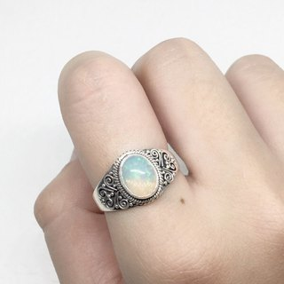 Opal 925 Sterling Silver Heavy Industry Elegant Style Ring Nepal Handmade Mosaic (Style 4)