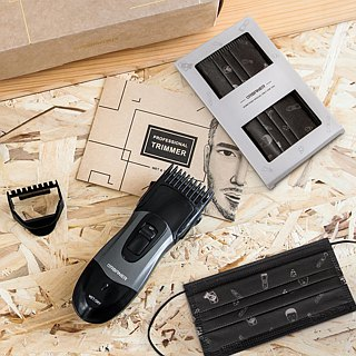 Auburn washed electric hair trimmer three-in-one repair capacity gift box to send manual razor 360 body repair capacity group