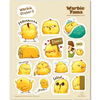 Warbie Warbie Mini Sticker set 002