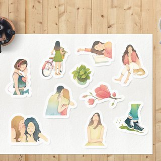 <Slow living> stickers / transparent/ 10pcs