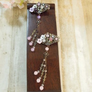 """Wing Yun Court - Kam makeup"" bronze purple version of the small hairpin"