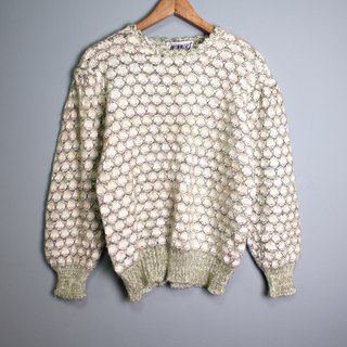 FOAK Ancient Lake Green Scales Knit Sweater