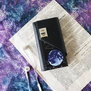 Space  Moon iphone case notebook type smartphon case
