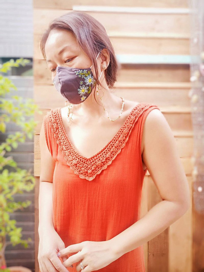 手繡棉布口罩