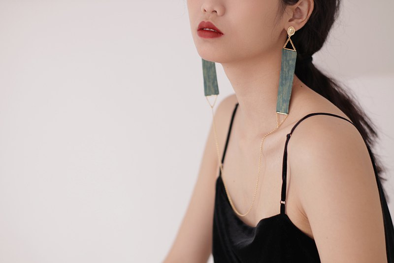 Streamer One Piece Earrings-Lucerne