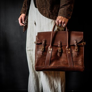 HEYOU Handmade –Well-Dressed Satchel Full Veg-Tanned Leather 全皮革款