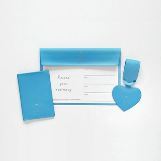 2NUL heart time holding folder - blue, TNL85250