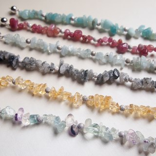 Irregular gemstone bracelet x2