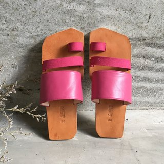 CLAVESTEP III Sandals - Leather Sandals - Three - Fuchsia