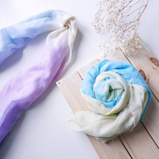 Goody Bag - Fairy Scarf 1+1 Original price 1845 Hand-dyed silk scarf 2 pieces gift card
