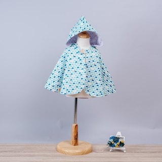 Double-sided cloak - Mount Fuji hand-made non-toxic coat baby children's clothing