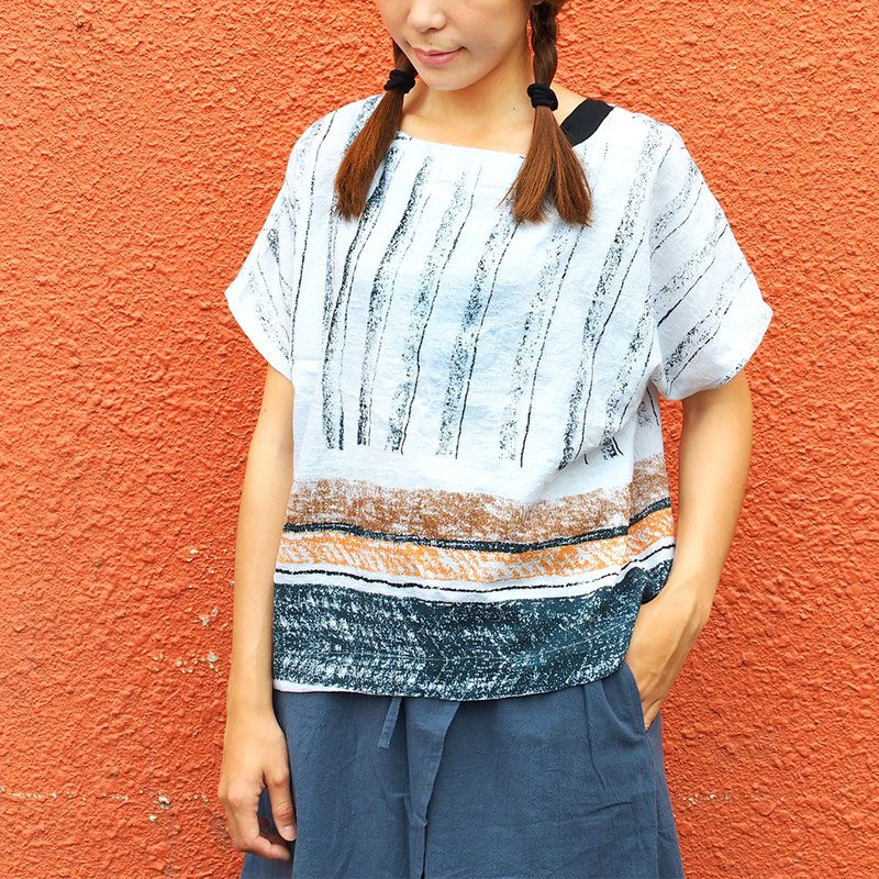 Maverick Village Cotton and Slim Slim Joker Short Top [Colored Crayons] Blue Coffee J-25 Limited