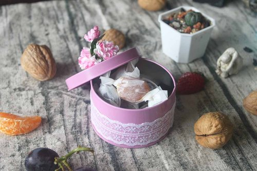 Real の fruit jelly taste fruity candy exclusive development of water - small objects wedding bouquet tin
