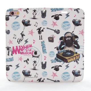 "Smiled sheep genuine authority (Shaun The Sheep) - Magnetic phone holster (white): [DJ Time] ""iPhone / Samsung / HTC / ASUS / Sony"""