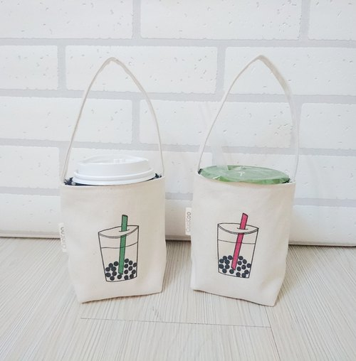 Pearl milk tea beverage bag bag hand bag beverage bag coffee bag 2 into the group