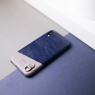 iPhone XR Anello Leather Case – Navy