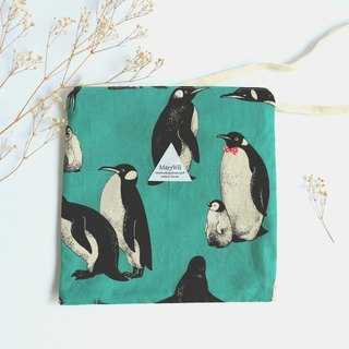 MaryWil square bag - green penguin