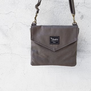 Double Envelope Shoulder Bag - Grey (Multiple Mezzanine / Portable Bag / Walking Bag)