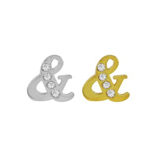 "Crystal Diamond ""&"" String (White Gold/Gold) Swarovski Crystal Element"