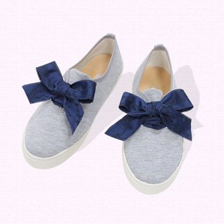 Lace casual shoes - gray blue