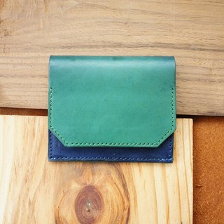 Simple light wallet (dual color dyeing) - multi-color selection