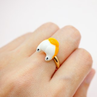 MoonMade Handmade Polymer Clay Corgi Butt Finger Ring, Corgi Ass Birthday Gift