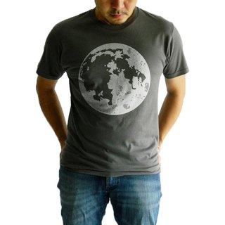Super Moon-Mens Ladies,Unisex T-shirt-Charcoal,Planets Space Orbit,Moon Eclipse