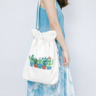 Cotton Canvas Denim Embroidery Tote bag - Forever Friends
