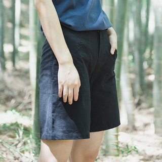 SYAO / Limited washing cotton horn shorts wild hidden pocket